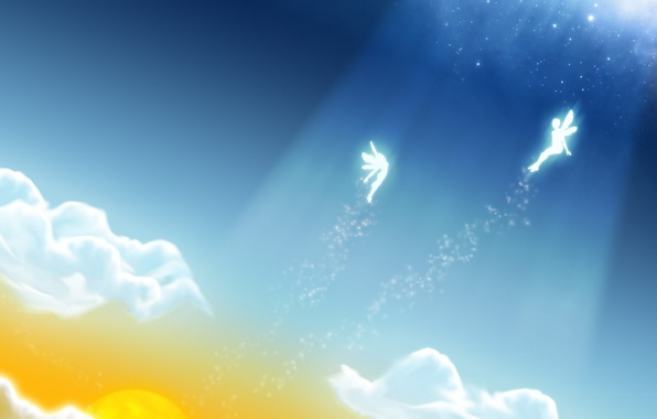 Picture clouds, light, vector, Fairies