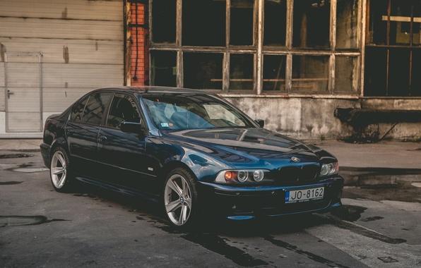 Picture Blue, BMW, BMW, E39, 5 Series
