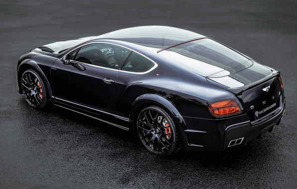 Picture Bentley, Continental, Black, Tuning, Back, ONYX