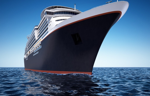 Picture sea, the sky, ship, horizon, liner, cruise