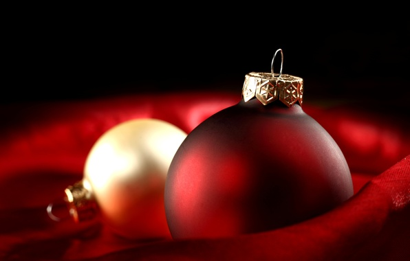 Picture winter, red, toys, ball, ball, New Year, Christmas, the scenery, gold, Christmas, holidays, New Year, …
