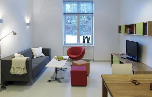 Picture light, style, room, interior, minimalism, window