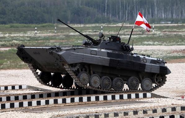 Picture machine, bridge, competition, polygon, biathlon, combat, BMP-2, combat, infantry, machines, division, tank, overcoming, obstacles, suburban, …