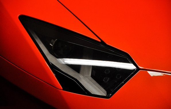 Picture red, headlight, red, lamborghini, Blik, aventador, lp700-4, Lamborghini, aventador