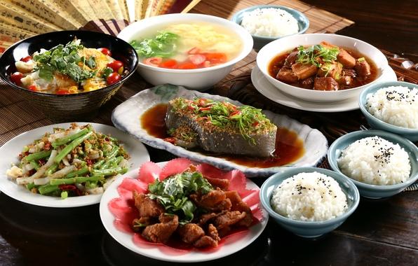 Picture fish, soup, figure, vegetables, seafood, Japanese cuisine, meals, cuts