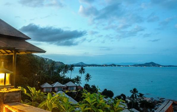 Picture beach, the sky, house, Palma, the ocean, stone, island, lantern, Bay, rock, house, Thailand, Thailand, …