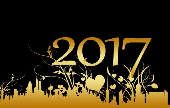 Picture night, yellow, the city, background, holiday, pattern, black, graphics, building, new year, vector, plants, figures, …