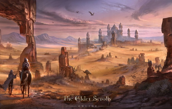 Picture the city, desert, The Elder Scrolls, The Elder Scrolls Online, TES Online, Hammer fur, Alik'r, ...