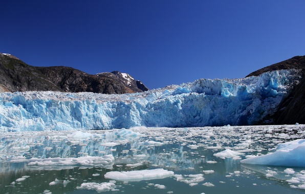 Picture mountains, glacier, Alaska, Bay, Alaska, Fjord Tracy Arm, Holkham Bay, Tracy Arm Fjord