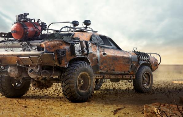 Picture auto, desert, car, Heath, mad max