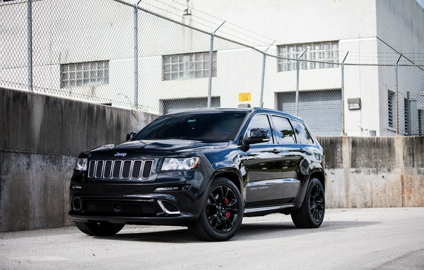 Picture Black, Grand, Jeep, SRT-8, Jeep, Cherokee, Grand Cherokee