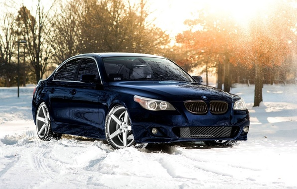 Picture The sun, Winter, Snow, Tuning, Winter, Sun, Bmw, Snow, Tuning, BMW, Vossen