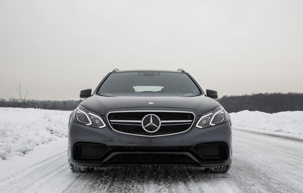 Picture Winter, Snow, Mercedes, E63 AMG, S-Model, 4Matic