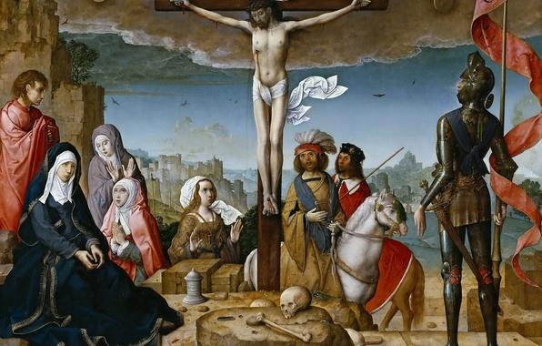 Picture picture, religion, mythology, The Crucifixion Of Christ, Juan de Flandes