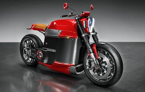 Picture motorcycle, bike, Tesla, Model M