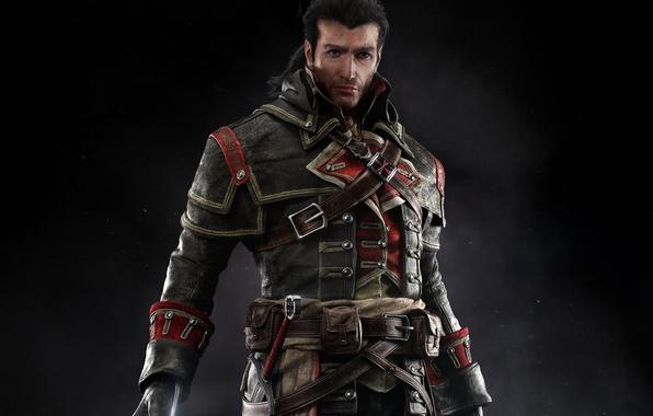 Picture look, sign, sword, costume, belt, Templar, scar, killer, Shay Patrick Cormac, Assassins Creed: Rogue