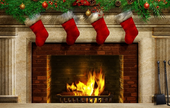 Picture color, fire, sweetheart, Christmas, beauty, colors, colorful, fire, fireplace, beautiful, Happy New Year, Christmas, colorful, …