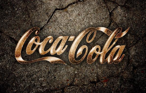 Picture cracked, earth, Coca-Cola