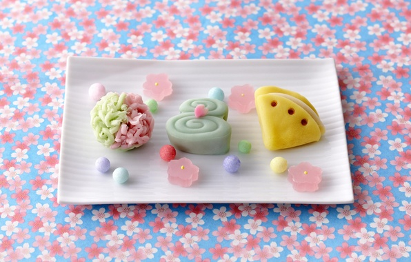 Picture balls, background, food, candy, sweets, floral, marmalade