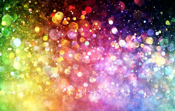 Wallpaper lights, lights, background, color, colorful, abstract, rainbow, bokeh
