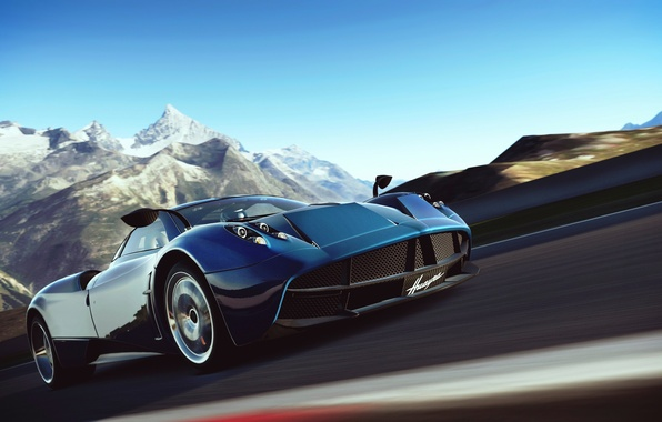 Picture art, Huayr To Pagani, Gran Turismo-6, the simulator