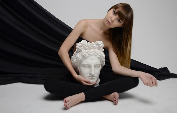 Picture look, pose, model, hair, portrait, art