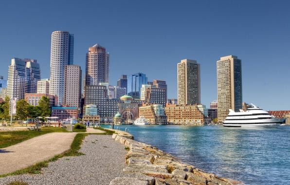 Picture architecture, promenade, Boston, Boston