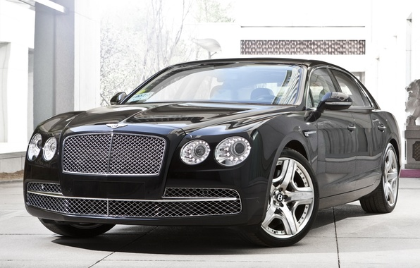 Picture car, machine, Bentley, luxury, the front, new, 2013, Flying Spur