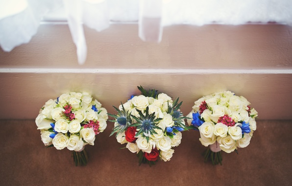 Picture flowers, roses, wedding, bouquets