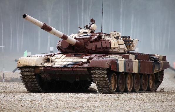 Picture red, tank, Biathlon, T-72