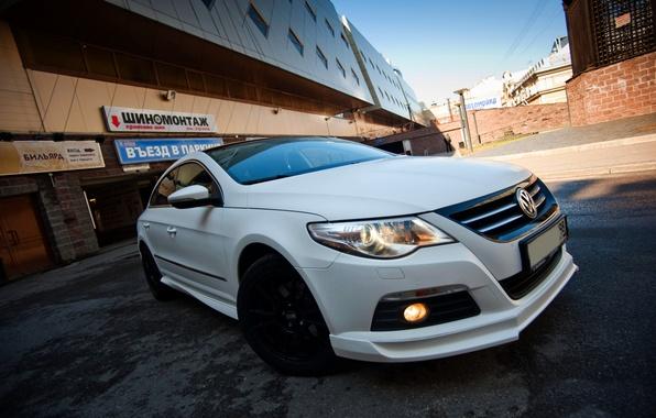 Picture White, Volkswagen, Lights, Car, Before, Passat