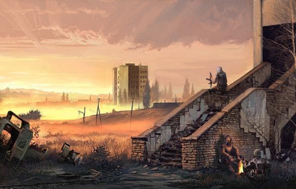 Picture the building, Stalker, Pripyat, area, Ukraine, stalkers