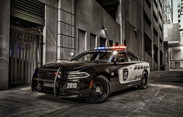 Picture black, Dodge, Dodge, Black, Charger, Pursuit, Challenger, 2015