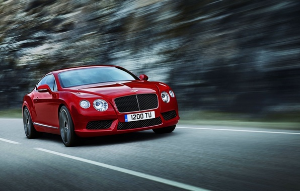 Picture Red, Bentley, Continental, Machine, Lights, The front, Range
