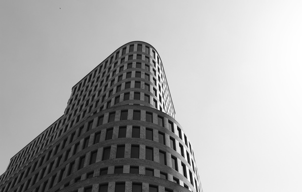 Picture the building, Windows, black and white