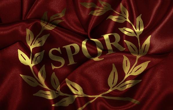 Picture flag, Rome, Rome, SPQR, red