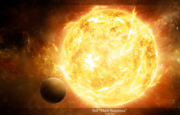 Picture light, star, planet, radiation, radiation, prominences