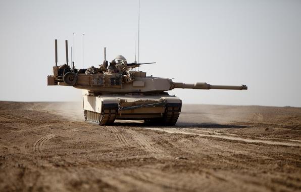 Picture desert, tank, M1A1, armor, Abrams, Abrams
