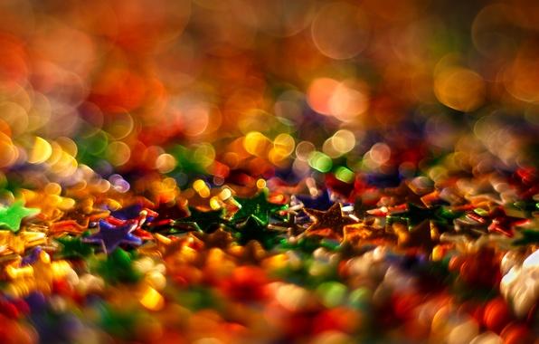 Picture light, background, color, blur, stars