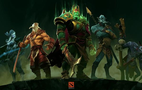 Picture dota 2, Drow Ranger, Sven, Phantom Lancer, Wraith King