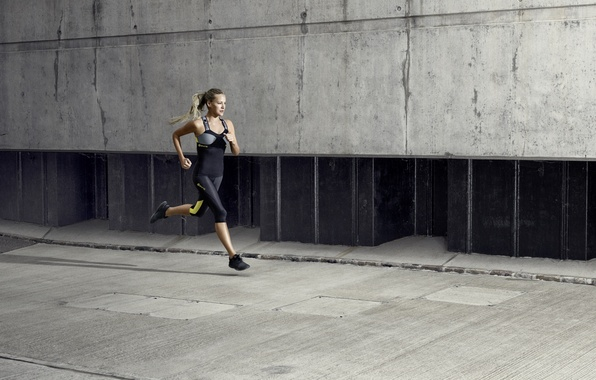 Photo wallpaper women, running, jogging, exercise