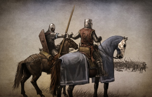 Picture the game, art, the battle, warriors, knights, action, ahead, role, RPG., Mount & Blade, the …