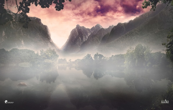Picture forest, trees, landscape, mountains, nature, fog, lake, Mother Nature, Paul Hector Theofanous