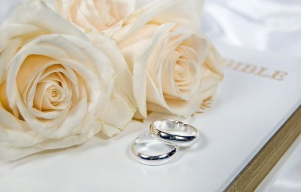 Picture flowers, flowers, engagement rings, wedding rings
