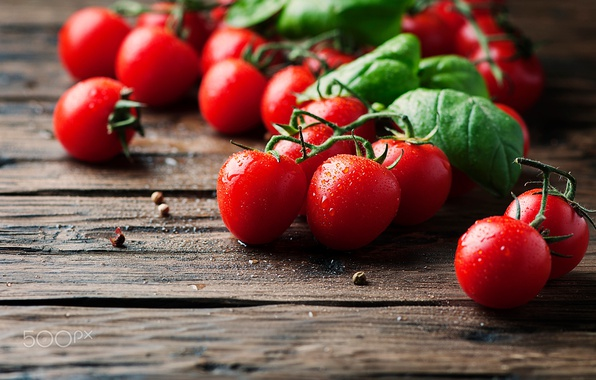 Picture drops, macro, table, food, vegetables, tomatoes
