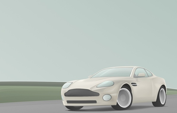 Picture dream, simple, easy, grey, dream, Aston Martin, certainty, vector, clarity