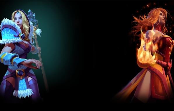 Picture steam, Crystal Maiden, Dota 2, Lina, Background profile