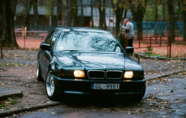 Picture the city, street, building, home, yard, the bandits, Boomer, seven, e38, bumer, bmw 740