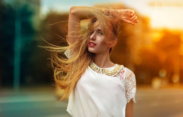 Picture The sun, Girl, Lips, Hair, Blik, Beautiful, Nastya