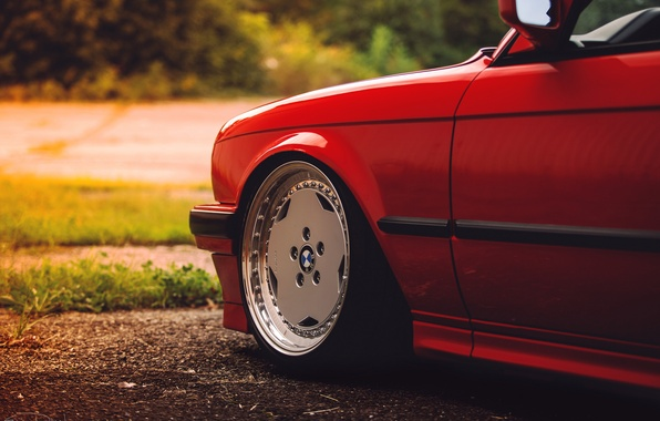 Picture red, BMW, BMW, red, disk, E30, The 3 series